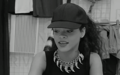 Rihanna On Her River Island Collection [BTS]